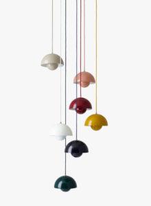 Verner Panton Flowerpot VP1 lampen i mange flotte farver